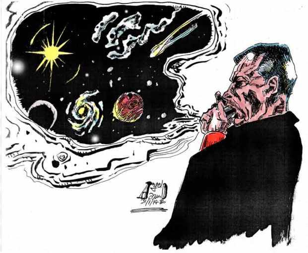 """Anassimene Armonicista - Illustrazione pubblicata nel booklet del CD """"The Night Has A Thousand Eyes"""", Fo(u)r Edition"""